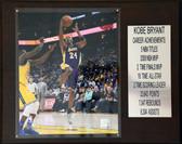 12x 15 Kobe Bryant Career Stat Plaque