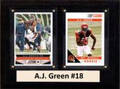 """NFL 6""""X8"""" A.J. Green Cincinnati Bengals Two Card Plaque"""
