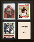 """NFL 8""""x10"""" A.J. Green Cincinnati Bengals Three Card Plaque"""