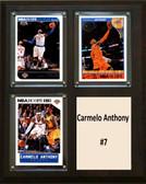"NBA 8""x10"" Carmelo Anthony New York Knicks Three Card Plaque"