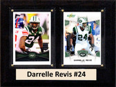 """NFL 6""""X8"""" Darrelle Revis New York Jets Two Card Plaque"""