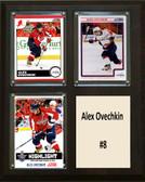 "NHL 8""x10"" Alex Ovechkin Washington Captials Three Card Plaque"