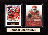 """NFL 6""""X8"""" Jamaal Charles Kansas City Chiefs Two Card Plaque"""