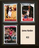 "NBA 8""x10"" James Harden Houston Rockets Three Card Plaque"
