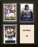 "NFL 8""x10"" Joe Flacco Baltimore Ravens Three Card Plaque"