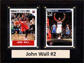 "NBA 6""X8"" John Wall Washington Wizards Two Card Plaque"