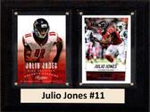 "NFL 6""X8"" Julio Jones Altanta Falcons Two Card Plaque"
