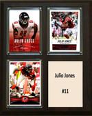 """NFL 8""""x10"""" Julio Jones Altanta Falcons Three Card Plaque"""