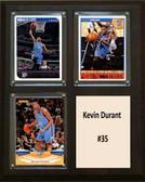 """NBA 8""""x10"""" Kevin Durant Oklahoma City Thunder Three Card Plaque"""