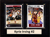 """NBA 6""""X8"""" Kyrie Irving Cleveland Cavaliers Two Card Plaque"""