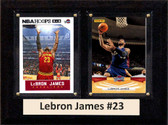 """NBA 6""""X8"""" Lebron James Cleveland Cavaliers Two Card Plaque"""