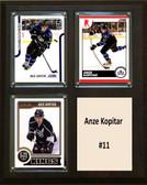 "NHL 8""x10"" Anze Kopitar Los Angeles Kings Three Card Plaque"