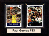 """NBA 6""""X8"""" Paul George Indiana Pacers Two Card Plaque"""