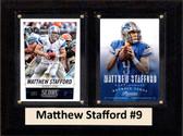 "NFL 6""X8"" Matthew Stafford Detroit Lions Two Card Plaque"