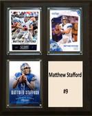 """NFL 8""""x10"""" Matthew Stafford Detroit Lions Three Card Plaque"""