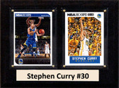 "NBA 6""X8"" Stephen Curry Golden State Warriors Two Card Plaque"