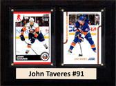 "NHL 6""X8"" John Taveres New York Islanders Two Card Plaque"