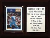 """MLB 6""""X8"""" George Brett Kansas City Royals Career Stat Plaque"""