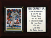 "MLB 6""X8"" Ken Griffey Jr. Seattle Mariners Career Stat Plaque"