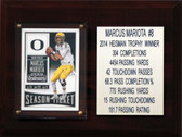 "NCAA 6""X8"" Marcus Mariota Oregon Ducks Career Stat Plaque"