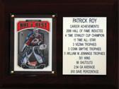 "MLB 6""X8"" Patrick Roy Colorado Avalanche Career Stat Plaque"