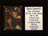 """MLB 6""""X8"""" Roberto Clemente Pittsburgh Pirates Career Stat Plaque"""
