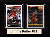 """NBA 6""""X8"""" Jimmy Bulter Chicago Bulls Two Card Plaque"""