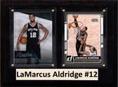 "NBA 6""X8"" LaMarcus Aldridge San Antonio Spurs Two Card Plaque"