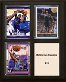 """NBA 8""""x10"""" DeMarcus Cousins Sacramento Kings Three Card Plaque"""