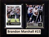 "NFL 6""X8"" Brandon Marshall New York Jets Two Card Plaque"