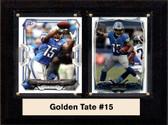 """NFL 6""""X8"""" Golden Tate Detroit Lions Two Card Plaque"""