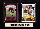"NFL 6""X8"" Jordan Reed Washington Redskins Two Card Plaque"