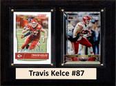 "NFL 6""X8"" Travis Kelce Kansas City Chiefs Two Card Plaque"