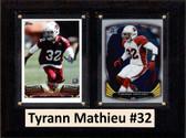 """NFL 6""""X8"""" Tyrann Mathieu Arizona Cardinals Two Card Plaque"""