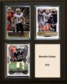 "NFL 8""x10"" Brandin Cooks New Orleans Saints Three Card Plaque"