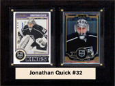 """NHL 6""""X8"""" Jonathan Quick Los Angeles Kings Two Card Plaque"""