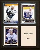 "NHL 8""x10"" Daniel Sedin Vancouver Canucks Three Card Plaque"