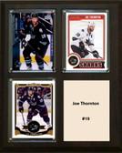 "NHL 8""x10"" Joe Thornton San Jose Sharks Three Card Plaque"