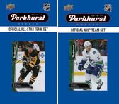NHL Vancouver Canucks 2016 Parkhurst Team Set and All-Star Set