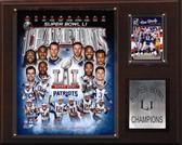 """NFL 12""""x15"""" New England Patriots Super Bowl XLI Champions Plaque"""