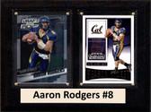 "NCAA 6""X8"" Aaron Rodgers California Golden Bears Two Card Plaque"