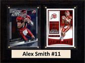 "NCAA 6""X8"" Alex Smith Utah Utes Two Card Plaque"