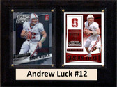 """NCAA 6""""X8"""" Andrew Luck Stanford Cardinal Two Card Plaque"""