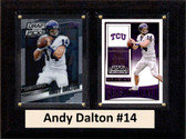 """NCAA 6""""X8"""" Andy Dalton TCU Horned Frogs Two Card Plaque"""