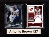 """NCAA 6""""X8"""" Antonio Brown Central Michigan Two Card Plaque"""
