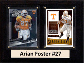 """NCAA 6""""X8"""" Arian Foster Tennessee Volunteers Two Card Plaque"""