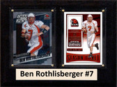 """NCAA 6""""X8"""" Ben Roethlisberger Miami Red Hawks Two Card Plaque"""