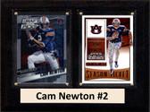 "NCAA 6""X8"" Cam Newton Auburn Tigers Two Card Plaque"