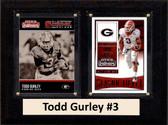 "NCAA 6""X8"" Todd Gurley Georgia Bulldogs Two Card Plaque"