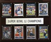 """NFL 12""""x15"""" New England Patriots Super Bowl 51 - 8-Card Plaque"""
